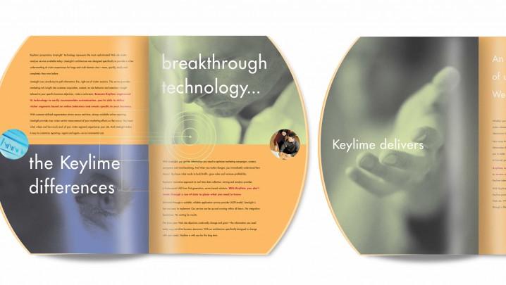 Technology branding and design: Keylime brochure