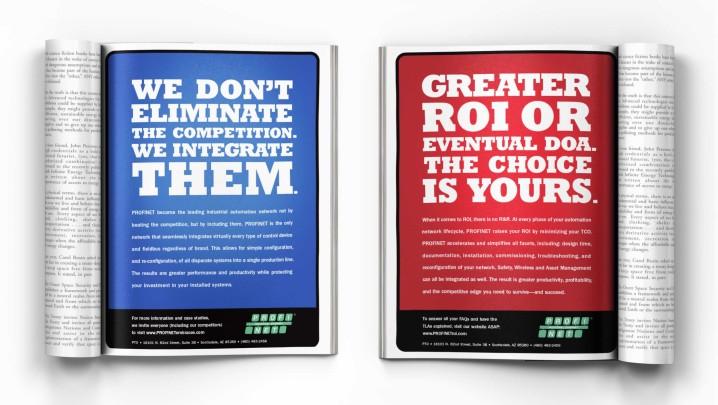 Technology Branding and Design: PROFINET ad design